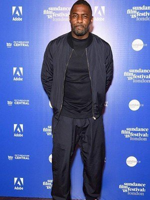 Idris Elba Yardie Black Satin Jacket