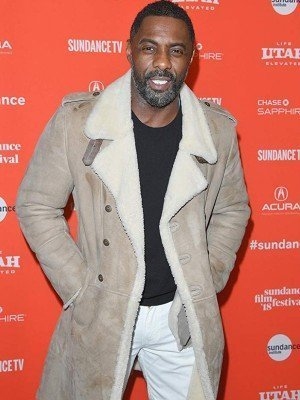 Idris Elba Yardie Event Suede Leather Coat