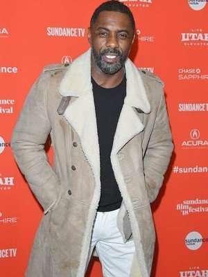 Idris Elba Yardie Event Suede Leather Coat