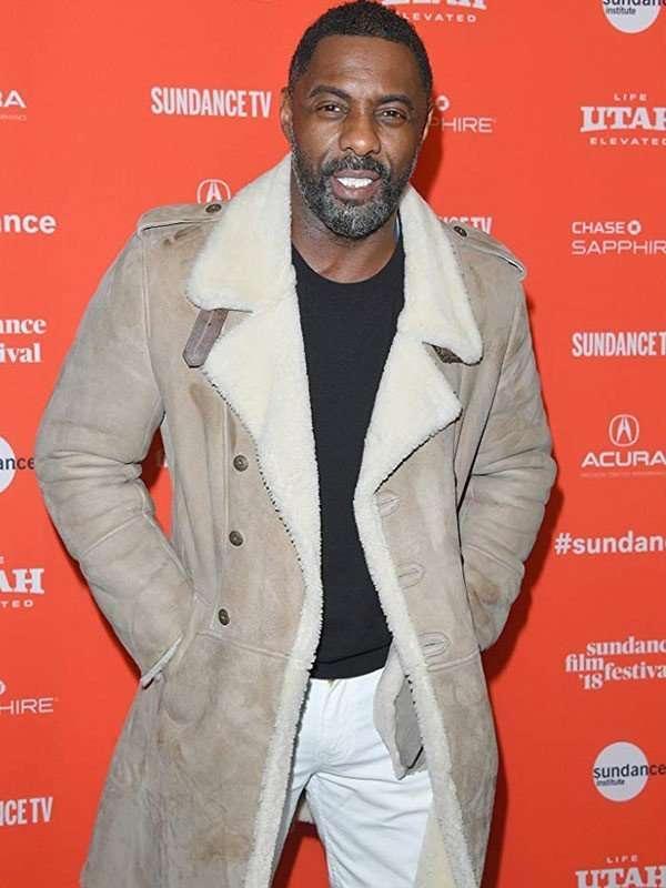 Yardie Idris Elba Shearling Coat