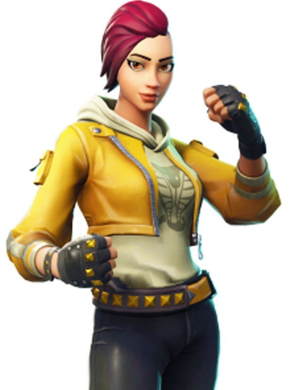 Yellow Fortnite Leather Jacket for Women