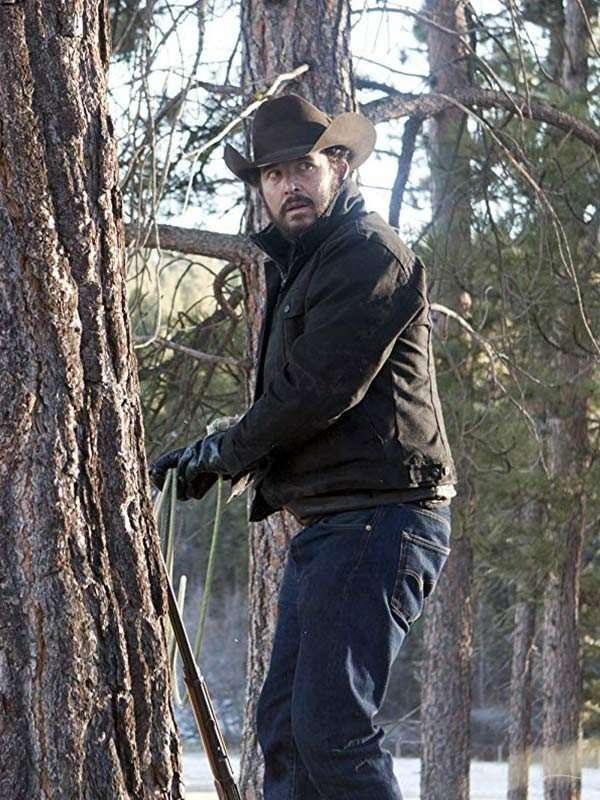 Yeloowstone Black Cotton Jacket