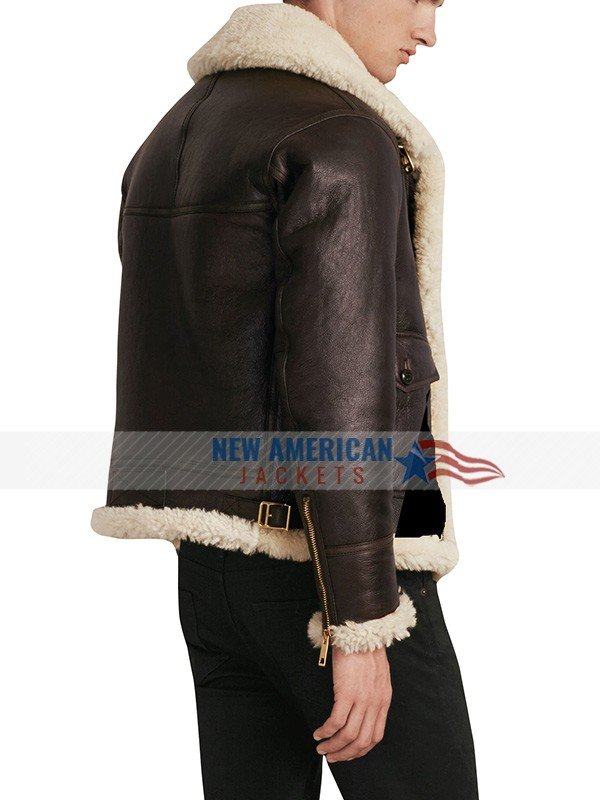 men aviator flight bomber jacket
