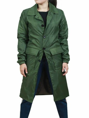 Satu Järvinen Green Trench Coat