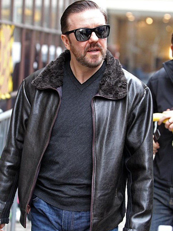 After Life Ricky Gervais Leather Jacket