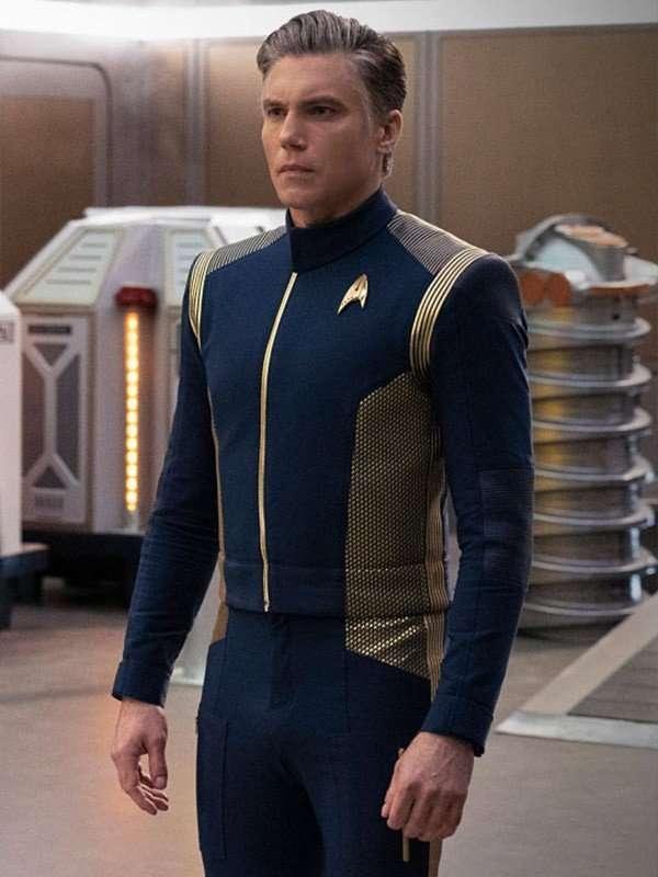 Anson Mount Star Trek Discovery Blue Uniform Jacket