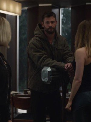 Avengers Endgames Chris Hemsworth Grey Jacket