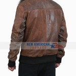 Aviator Brown Leather Jacket
