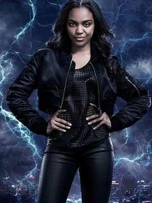 Jennifer Pierce Black Lightning Bomber Jacket