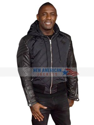 Idris Elba Quilted Bomber Jacket