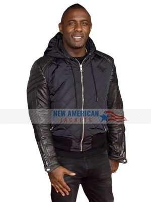 Idris Elba Quilted Bomber Jacket