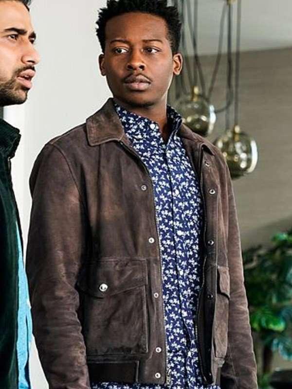 Brandon Micheal Hall God Friended Me Brown Jacket