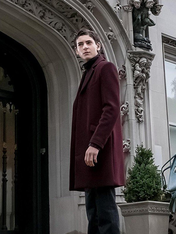 Bruce Wayne Maroon Coat