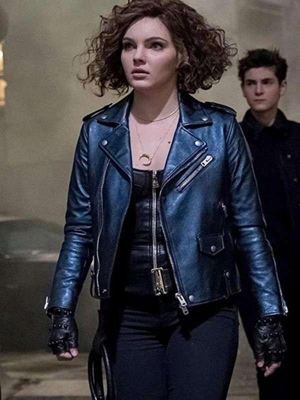 Camren Bicondova Gotham Salina Kyle Leather Jacket