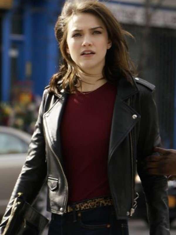 Cara Bloom God Friended Me Violett Beane Leather Jacket