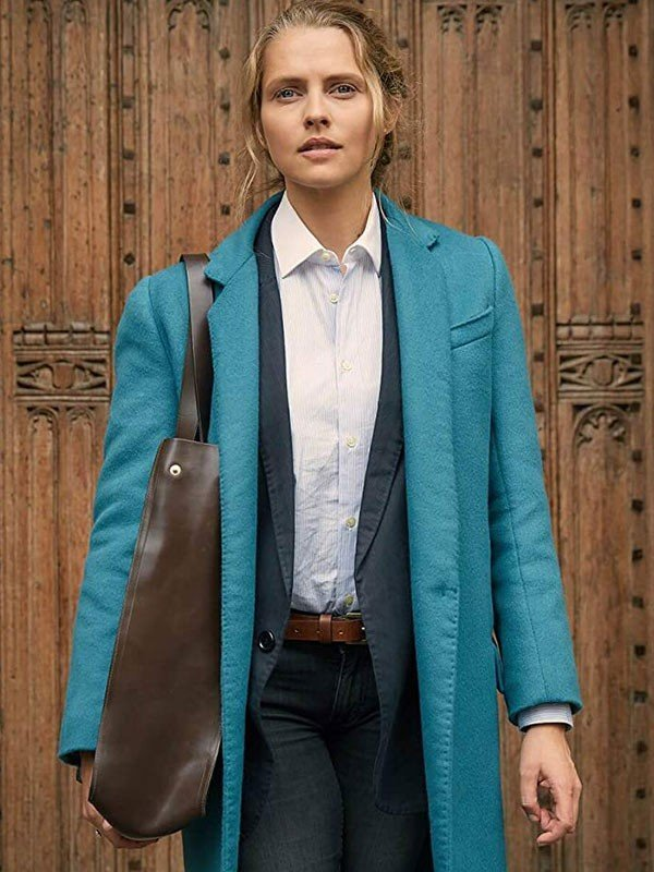 Diana Bishop A Discovery of Witches Blue Wool Coat