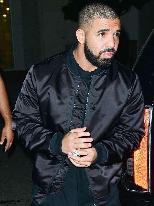 Drake Scorpion June Black Satin Jacket