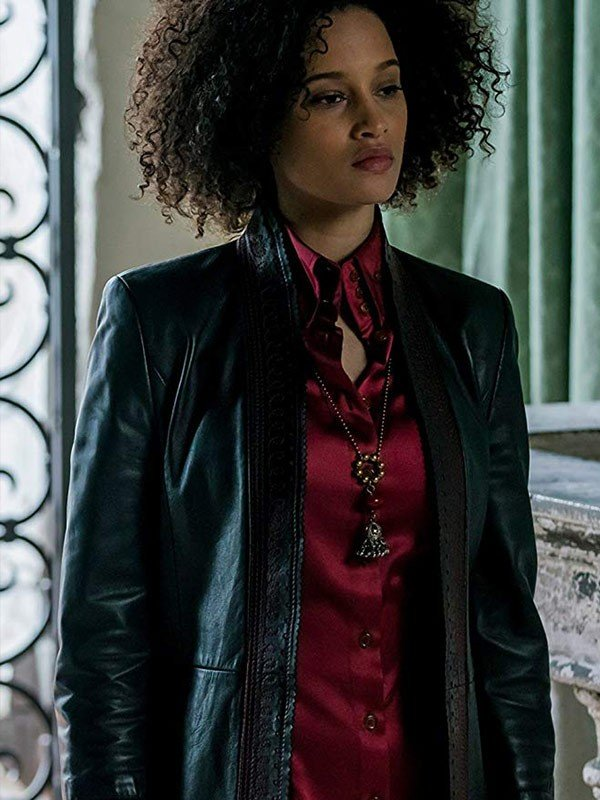 Elarica Johnson A Discovery of Witches Black Leather Jacket