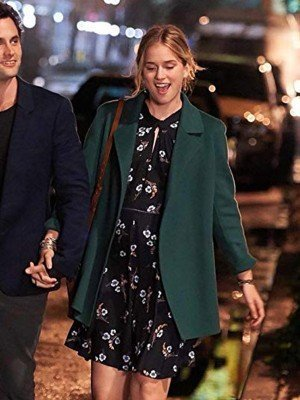 Elizabeth Lail You Guinevere Beck Green Blazer Coat
