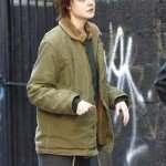 Elle Fanning Green Cotton Jacket
