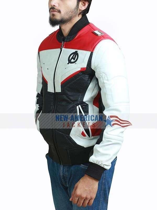 Endgame Avengers White Leather Jacket