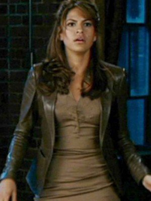Ghost Rider Eva Mendes Brown Leather Jacket