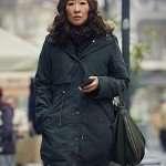 Eve Polastri Killing Eve Sandra Oh Black Cotton Coat