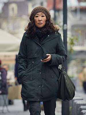 Killing Eve Sandra Oh Cotton Coat
