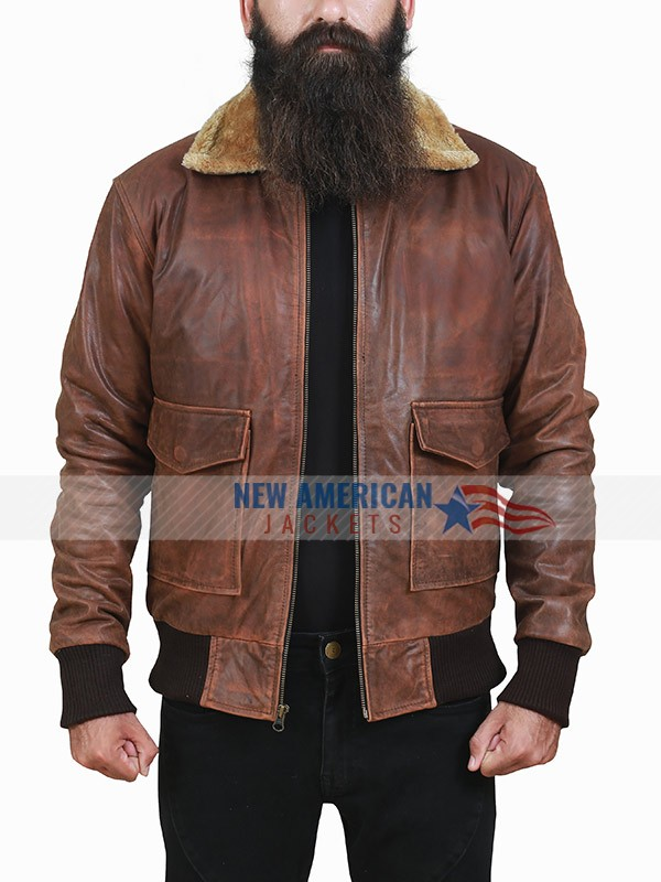 Far Cry 5 Brown Leather Jacket