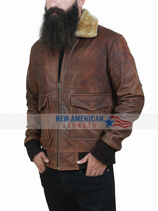 Far Cry Brown Leather Jacket