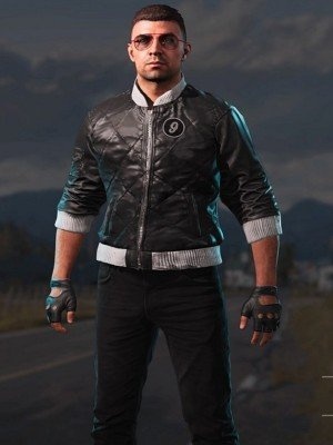 Video Game Far Cry 5 Viper Black Leather Jacket