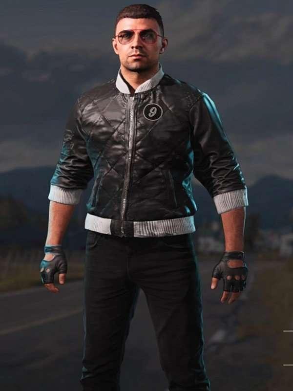 Far Cry Viper Black Leather Jacket