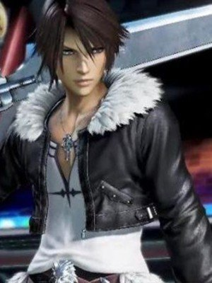 Squall Leonhart Final Fantasy 8 Fur Collar Leather Jacket