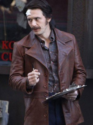The Deuce James Franco Brown Distressed Leather Jacket