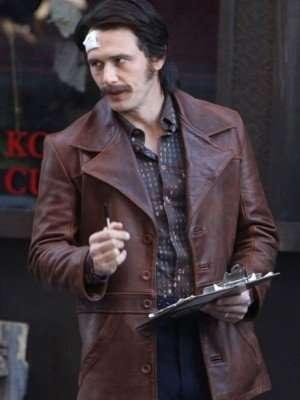 The Deuce James Franco Brown Distressed Leather Jacket