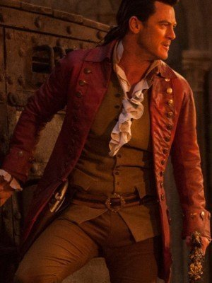Luke Evans Beauty and The Beast Gaston Leather Coat