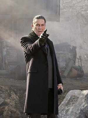 Ghost Rider Ciaran Hinds Black Wool Coat