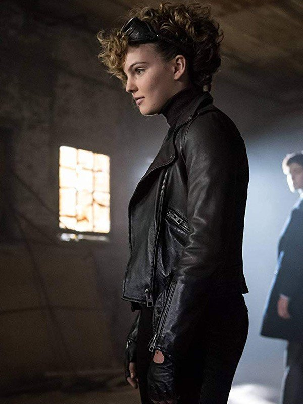 Gotham Camren Bicondova Black Motorcycle Jacket