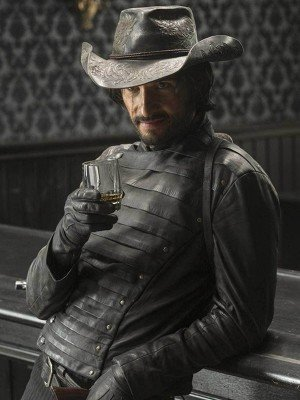 Westworld Rodrigo Santoro Black Leather Jacket