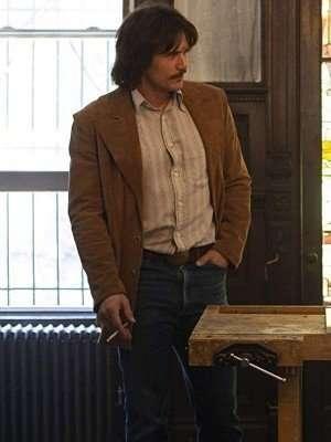 The Deuce James Franco Suede Leather Blazer Coat
