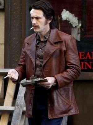Frankie Martino The Deuce James Franco Brown Leather Jacket