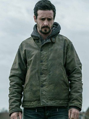 Captive State James Ransone Green Cotton Jacket