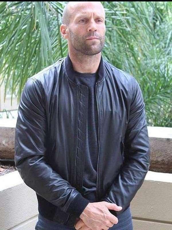 Jason Statham Black Bomber Jacket