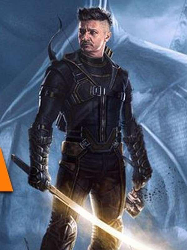 Jeremy Renner Avengers Endgames Clint Barton Black Jacket