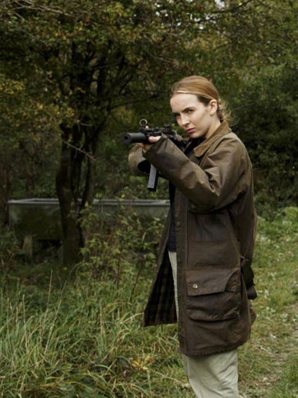 Jodie Comer Green Coat from Killing Eve