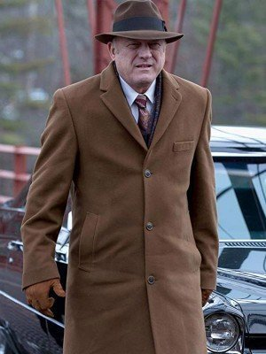 Gotham Carmine Falcone Brown Wool Coat