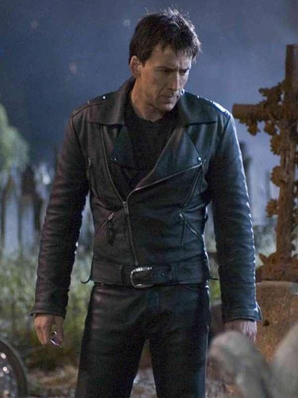 Johnny Blaze Ghost Rider Black Jacket