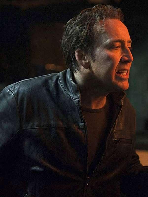 Johnny Blaze Ghost Rider Nicolas Cage Leather Jacket