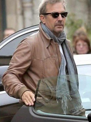 Kevin Costner Brown Leather Jacket
