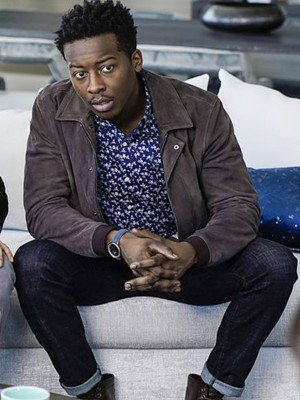 God Friended Me Brandon Micheal Hall Brown Leather Jacket